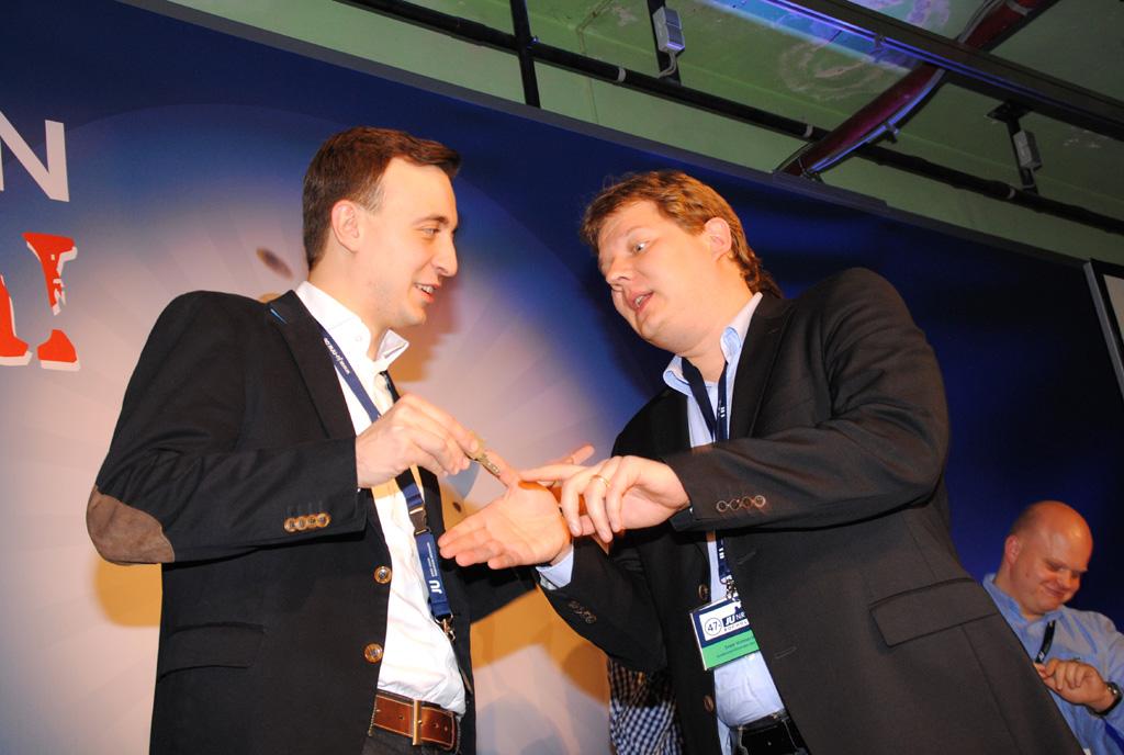 Paul Ziemiak (links) und Sven Volmering