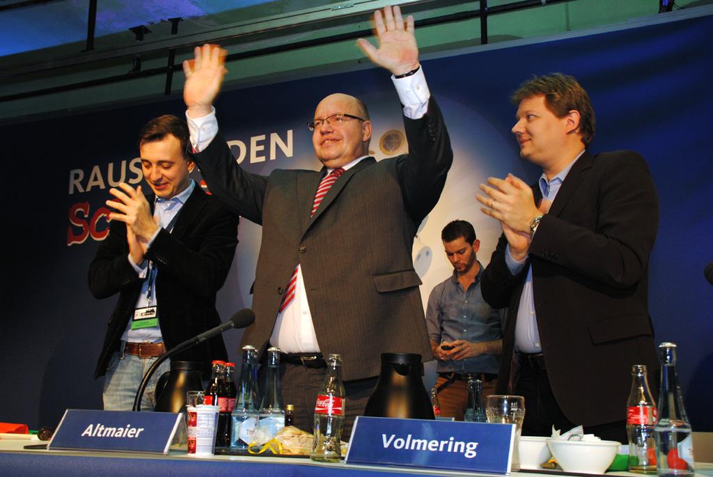 Paul Ziemiak, Peter Altmaier und Sven Volmering (v.l.)