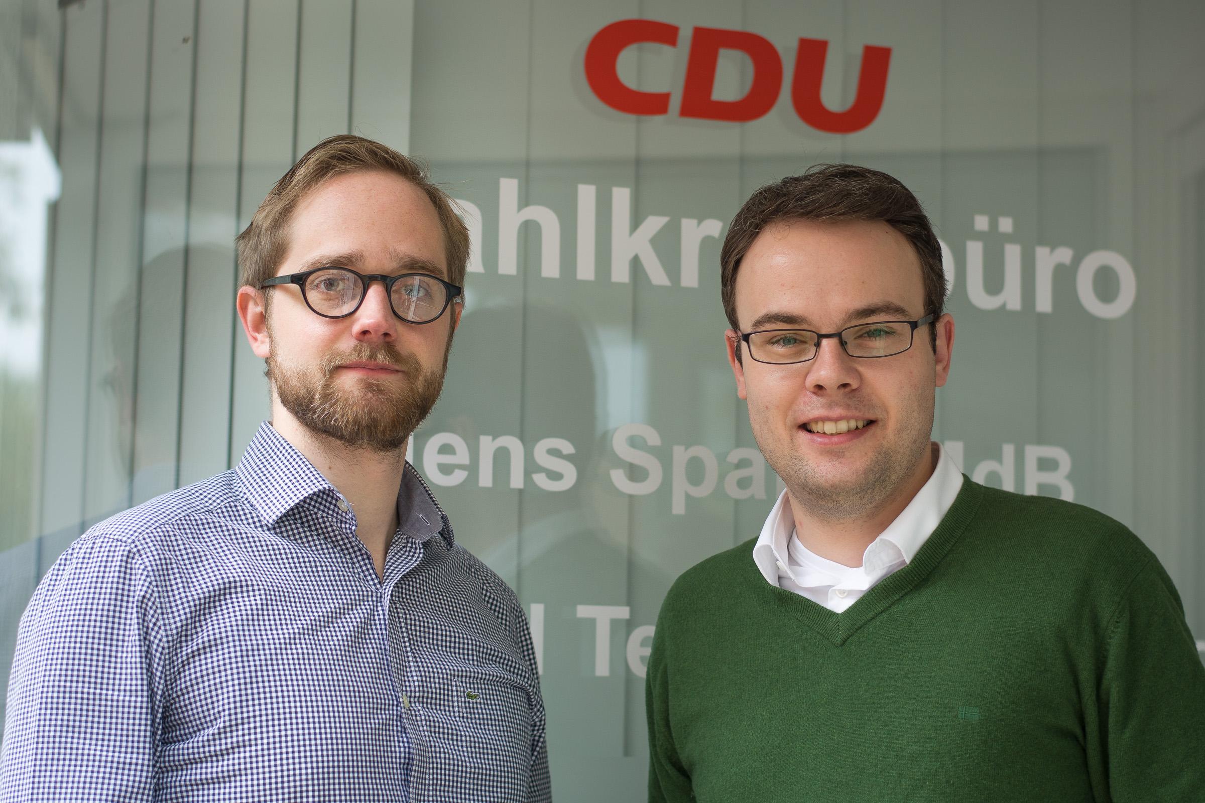 JU-Kreisvorsitzender Thomas Eusterfeldhaus (rechts) mit Michael Dust